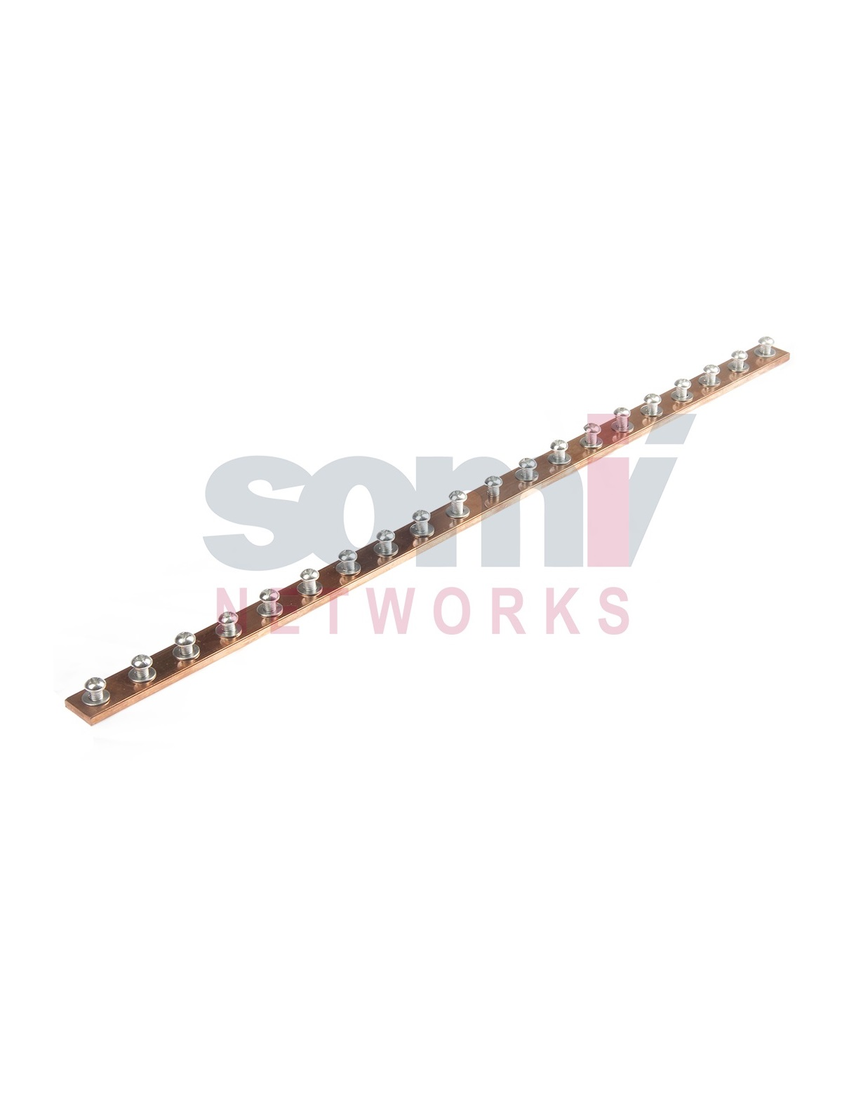 """19"""" Coper grounding plate with loaded earthing screws"""