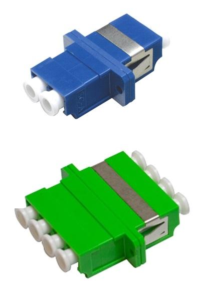 LC adapters SM MM simplex, duplex Quad UPC APC