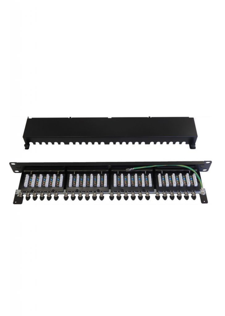 100-032 patch panel Cat 6A screened
