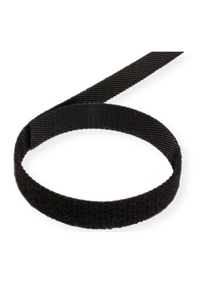 Velcro juosta tape 10mm 25m juoda black 2